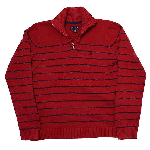 Nautica Red 1/4 Zip Sweater