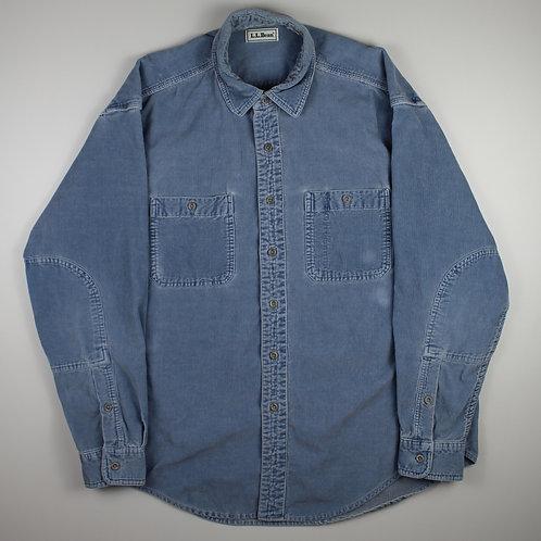 LL Bean Blue Corduroy Shirt