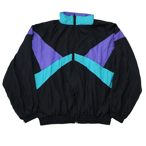 Vintage Teal, Purple & Black Tracksuit Top