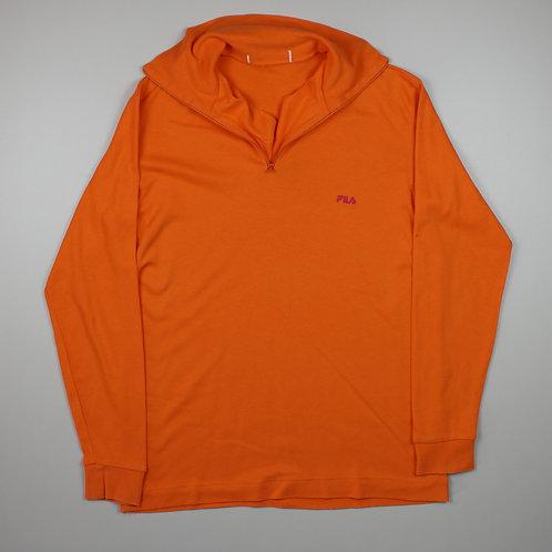 Fila Orange 1/4 Zip Sweater