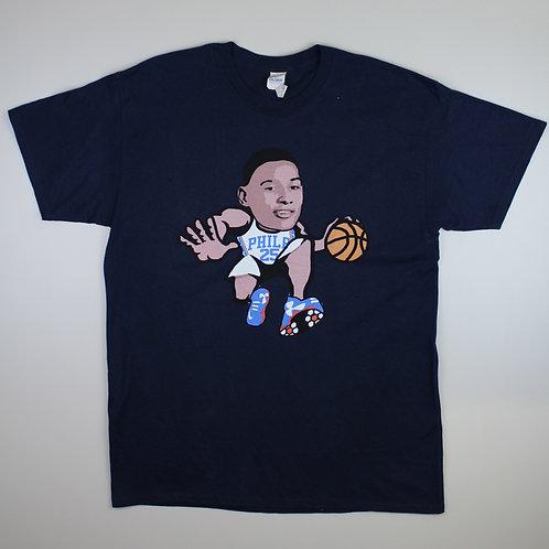 Vintage Navy Philadelphia 76ers T-Shirt