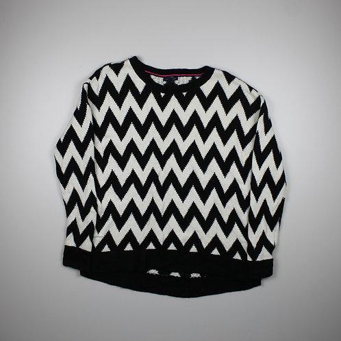 Tommy Hilfiger Black & White Patterned Jumper