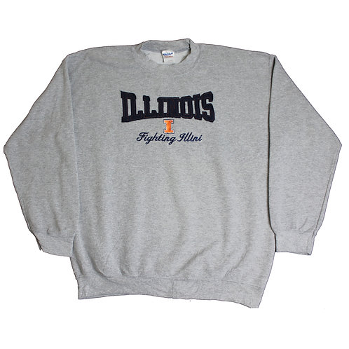 Vintage 'Illinois' Grey Sweater