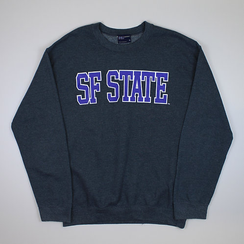 Vintage 'SF State' Grey Sweater