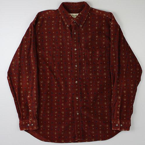 Eddie Bauer Maroon Corduroy Shirt