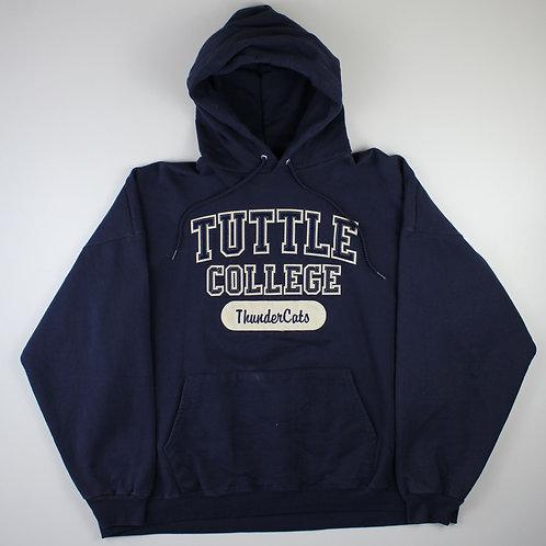 Vintage Navy 'Tuttle College' Hoodie