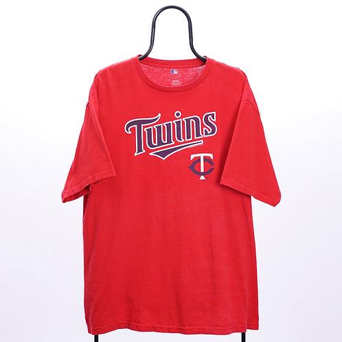 MLB Vintage Red Minnesota Twins TShirt