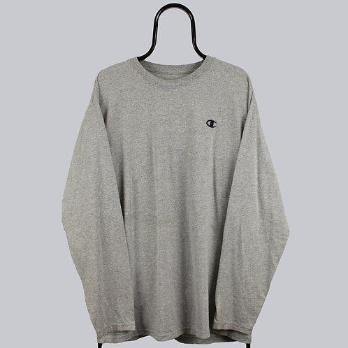 Champion Vintage Grey Long Sleeved TShirt