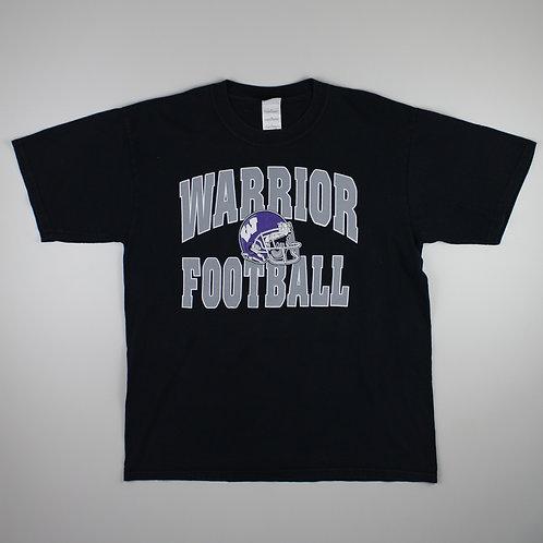 Vintage Black 'Warrior Football' T-Shirt