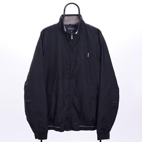 YSL Vintage Black Harrington Jacket