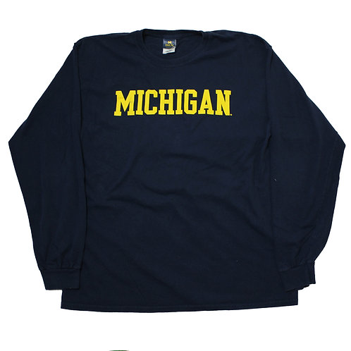 Vintage 'Michigan' Long Sleeved T-shirt