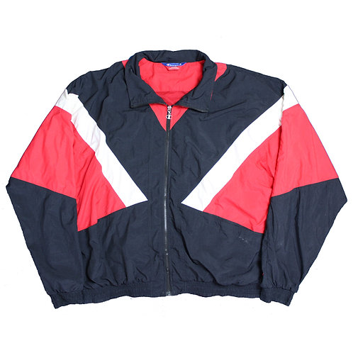 Champion Black, Red & White Tracksuit Top
