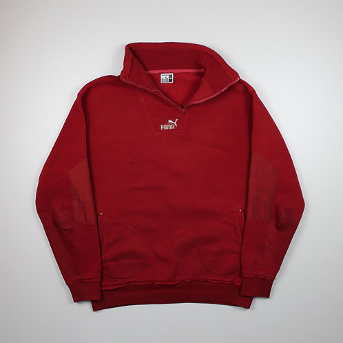 Bootleg Puma 1/4 Zip Red Sweater