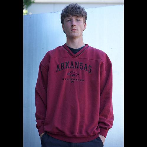 Vintage Maroon Arkansas Razorbacks NCAA Sweatshirt