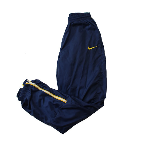 Nike Navy & Yellow Tracksuit Bottoms