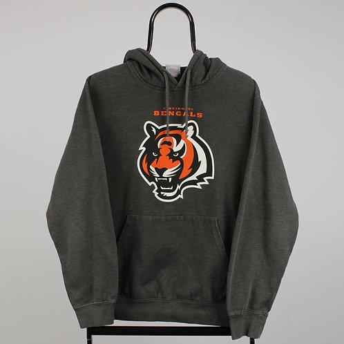 Majestic Vintage Grey NFL Cincinnati Bengals Hoodie