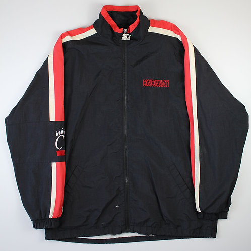 Starter Black 'Cincinnati Bearcats' Tracksuit Top