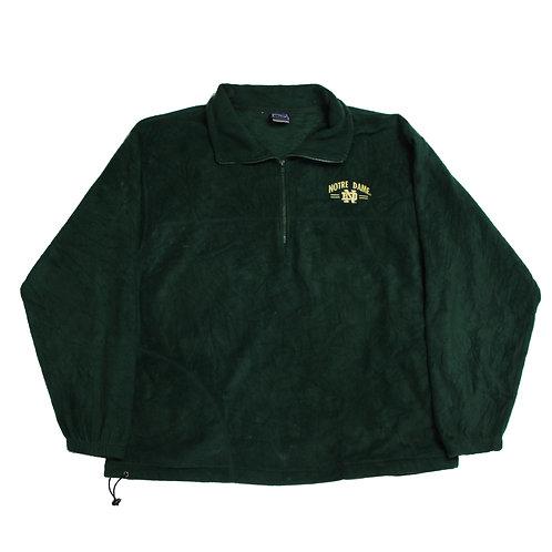 Notre Dame Green 1/4 Zip Fleece