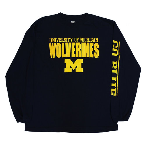 College Football Michigan Wolverines Long Sleeved Tee
