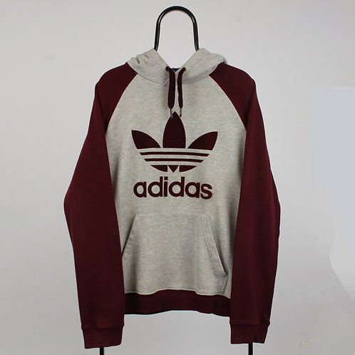 Adidas Vintage Spell Out Logo Grey Hoodie
