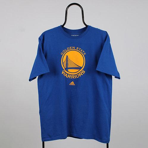 Adidas Vintage Blue NBA Golden State Warriors TShirt