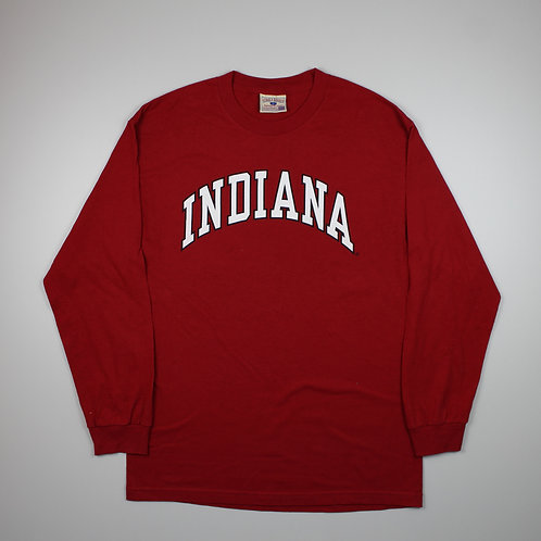 Vintage 'Indiana' Red Long Sleeved Top