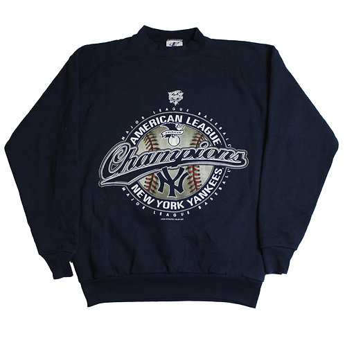 Logo Athletic Navy NYY Sweater