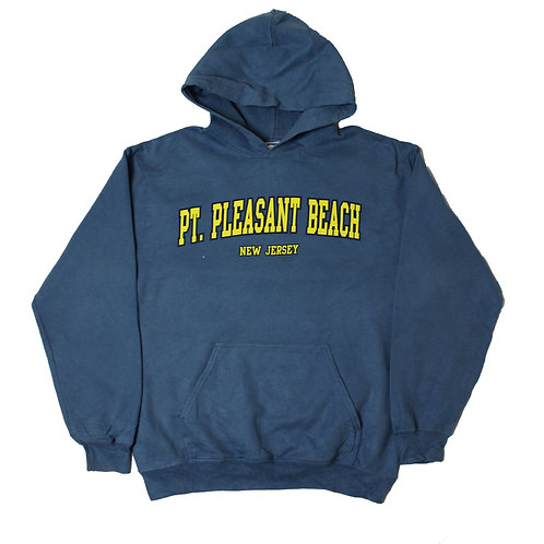 Vintage 'PT. Pleasant Beach' Blue Hoodie
