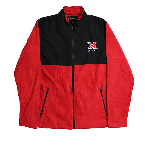 Red Fleeced Miami Jacket