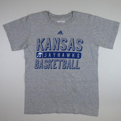Adidas Grey 'Kansas Jayhawks' T-Shirt