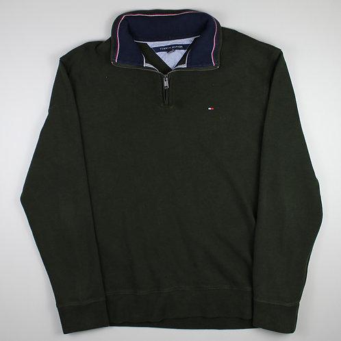 Tommy Hilfiger Green 1/4 Zip Sweater