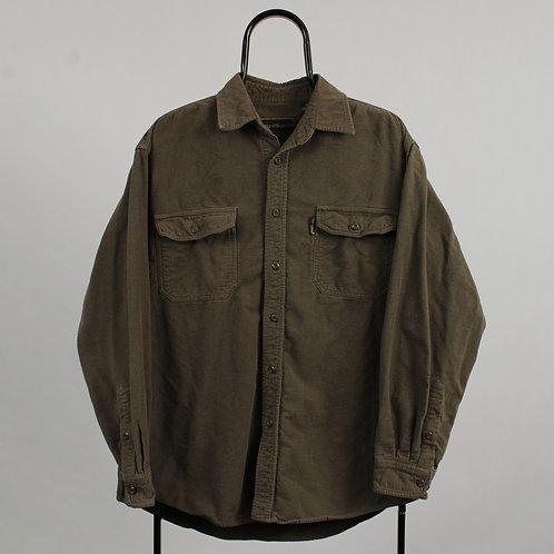 Vintage Green Flannel Shirt