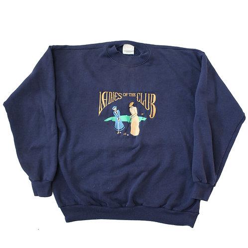 Vintage 'Ladies of the Club' Navy Sweater