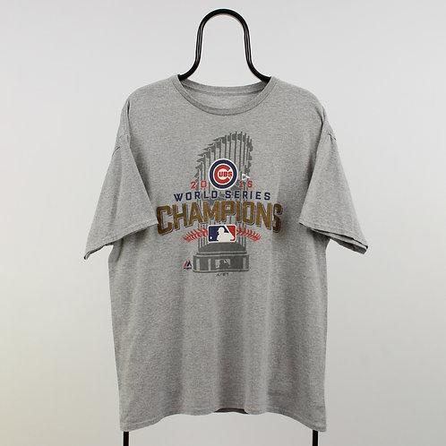 Majestic MLB Chicago Cubs Grey TShirt