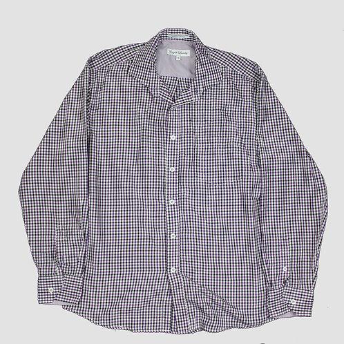 Vintage Purple & Black Patterned Shirt