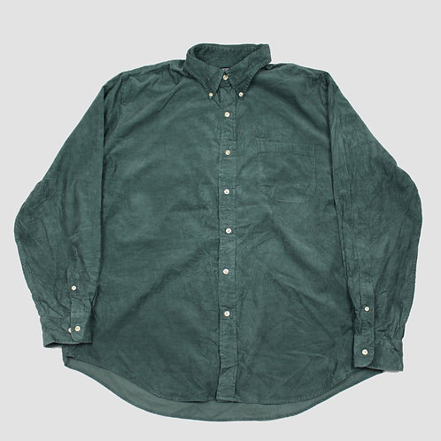 Lands End Dark Green Corduroy Shirt