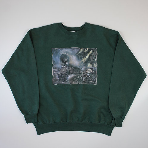 Vintage Green Railway Sweatshirt