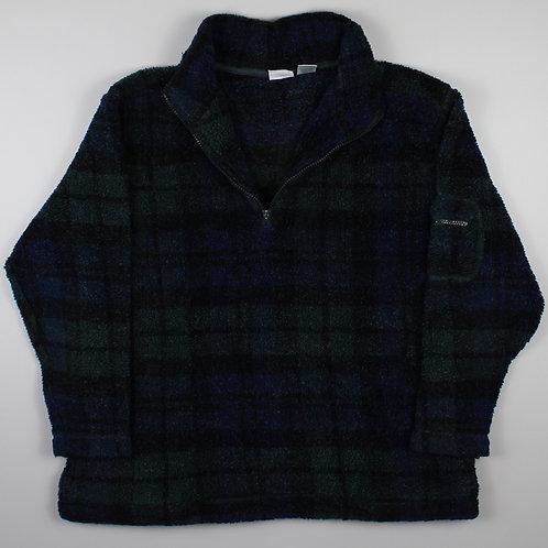 Vintage Check 1/4 Zip Fleece
