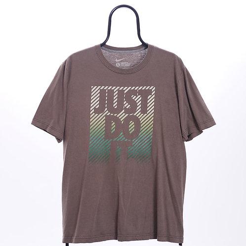 Nike Vintage Y2K Brown Slogan TShirt
