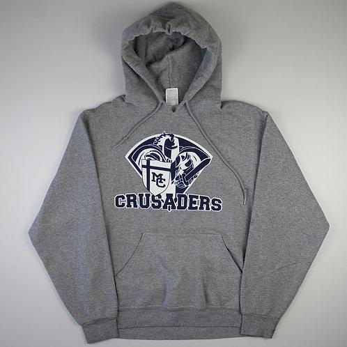 Vintage Grey 'Crusaders' Hoodie