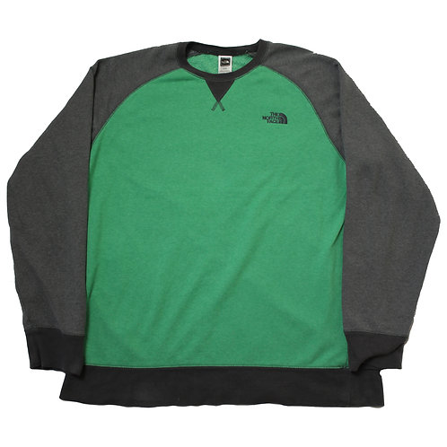 The North Face Green & Grey Sweater