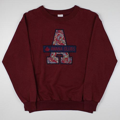 Vintage 90s Maroon Awana Clubs Sweatshirt