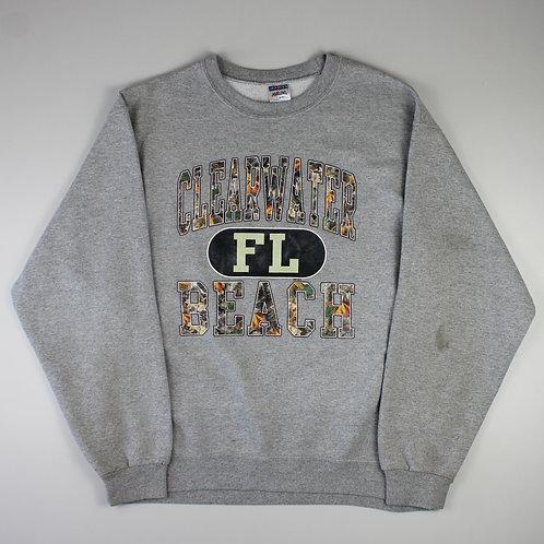 Vintage Grey 'Clearwater Beach' Sweatshirt