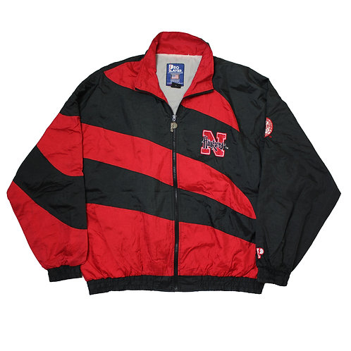 Pro Player 'Huskers' Red & Black Tracksuit Top