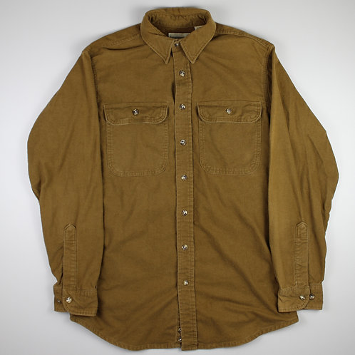 Vintage Beige Flannel Shirt