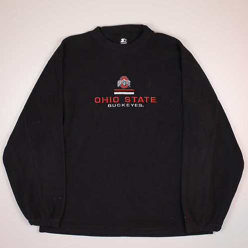Starter 'Ohio State' Black Fleeced Sweater