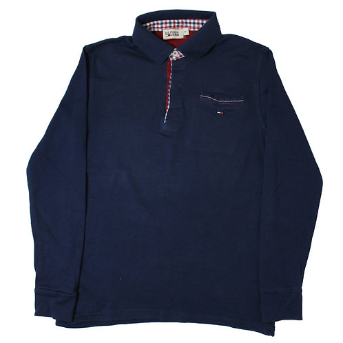 Tommy Hilfiger Navy Long Sleeved Polo