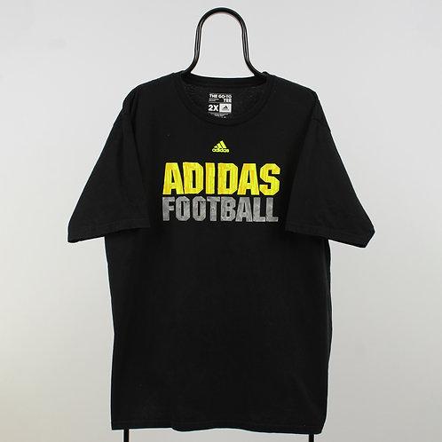 Adidas Vintage Black Football TShirt