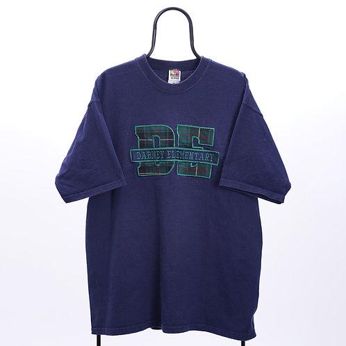 Vintage Navy DE Embroidered TShirt