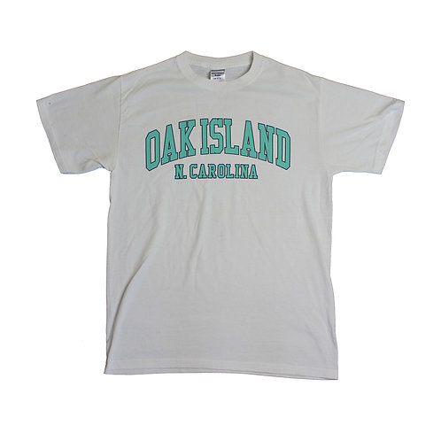 Vintage 'Oak Island' White T-shirt